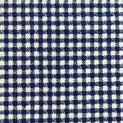 Японский принт хлопок синяя «Клетка»
