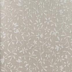 Японский молочный принт хлопок белые «Веточки»